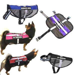 Non Pull Service Dog Harness Reflective & 2 Patches Puppy Emotional Mesh Vest