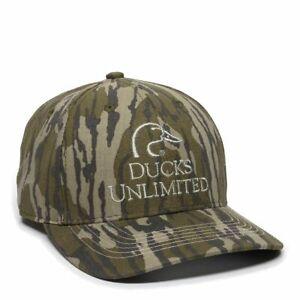 DUCKS UNLIMITED HAT Hunting Shooting Range Mossy Oak Bottomland Camo Great! NEW!