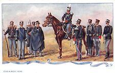 5622) GRANATIERI DI SARDEGNA, UNIFORMI STORICHE 1871/1903.
