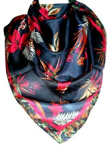 Unisex Indian Handmade 100% Pure Silk Square Scarves, Foulard, Head Scarf, Gifts
