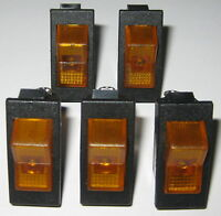 5 X Swann Industries Illuminated Rocker Switch - SPST - 125V 15A - Lighted Amber