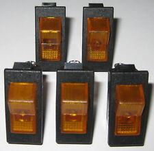 5 X Swann Industries Illuminated Rocker Switch Spst 125v 15a Lighted Amber