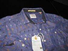Tommy Bahama Maverick Jacquard Charter Blue New LS Shirt Large L TD311811