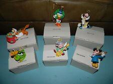 Grolier Goofy Angel Disney Ornament DCA Christmas Lot of 6