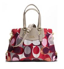 NWT Coach Ashley Scarf Print Carryall Shoulder Bag Handbag F21704 Multi Color