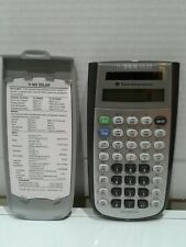 Used Texas Instruments TI-36X Solar Scientific Calculator w/ Cover, Display Card
