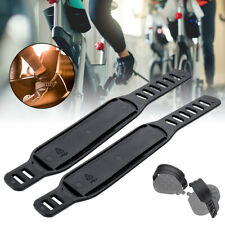 2x Exercise Bike Bicycle Pedal Straps Belts Fixed Stationary Home Gym Adjustable