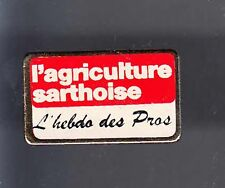 RARE PINS PIN'S .. AGRICULTURE TRACTEUR TRACTOR JOURNAL PRESSE SARTHE PRO 72 ~BF