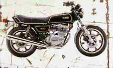 Yamaha XS500 1978 Aged Vintage SIGN A3 LARGE Retro