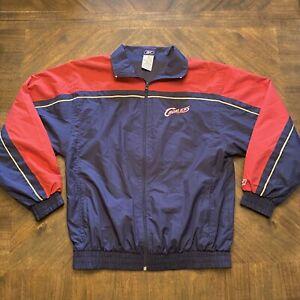 Vintage NBA Cleveland Cavaliers Cavs Reebok Windbreaker Jacket Youth XL/Adult SM