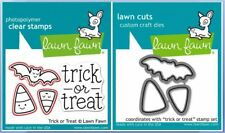 Lawn Fawn Photopolymer Clear Stamp & Die Combo ~  TRICK OR TREAT  ~LF554, LF967