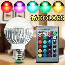 Energy Saving E27 3W RGB LED Bulb Lamp Light 16Color Changing IR Remote Control.