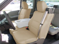 FORD F-150 04-08 S.LEATHER FRONT CUSTOM FIT SEAT COVER BUILT IN SEAT BELT BEIGE