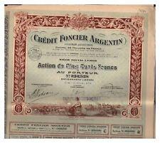 ACTION  500 FR CREDIT FONCIER ARGENTIN 1920 (réf 1)