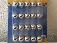 19 mm Rad Caps chrom Radschrauben Radmuttern Kappen Deckel Radschrauben