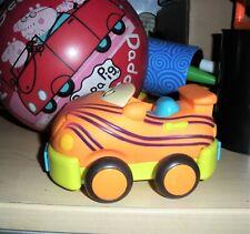 "Battat  B You Soft Car Pull Back Toddler Toy Car TIGER  5"""