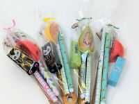 Kids Cute Pre Filled Party Bag Filler Favour Cone Boys Girls Stationery Gift Set