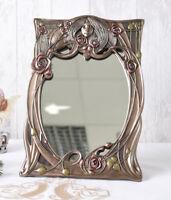 Jugendstil Spiegel Frauenkopf Tischspiegel Kosmetikspiegel Antik Stil