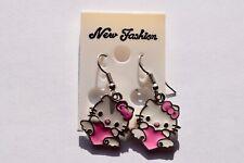 Earrings, Pierced Ears, Hello Kitty, Kitty and Heart,