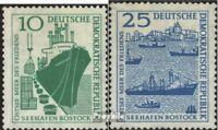 DDR 663-664 (kompl.Ausg.) postfrisch 1958 Rostock