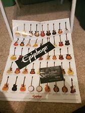 Epiphone guitar bass poster manual paperwork sticker lot