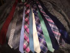 Mens Dress Ties And Pocket Squares Big Lot Of 14 Plus Pocket Squares
