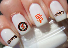 San Francisco Giants Nail Art Stickers Transfers Decals Set of 54