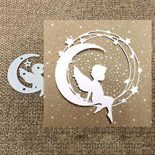 Angel on Moon Metal Cutting Dies Scrapbook Embossing Paper Cards Craft Die Cuts