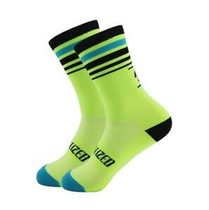 Pro Road Cycling Socks Yellow +39-45 (UK)