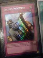 Yugioh Solemn Judgment LCJW-EN182 Secret Rare 1st Edition