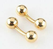 Tiffany & Co. 18k Yellow Gold Vintage Round Ball Curved Cufflinks 8.1 grams