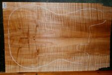 Curly Spalted Maple Wood 7717 Luthier 5A Guitar Top 23 x 14+ x 3/8  AGED 17 YRS.