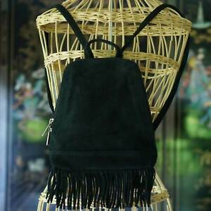 Leather Fringe Backpack Shoulder Bag Boho Hobo Tassel Shoulder Hippie Handbag