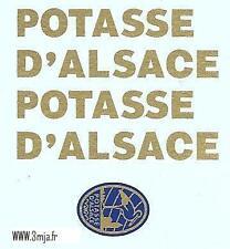 """DEC147 - Planche décalcomanie Renault fainéant """"POTASSE D'ALSACE"""" CIJ 3/70"""