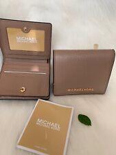 (1) Michael Kors Small Jet Set Travel MD Carryall Leather Dark Khaki - Authentic