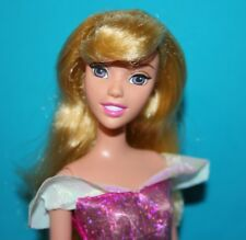 DISNEY Barbie Doll Dressed AURORA Sleeping Beauty PRINCESS Long Blonde Hair