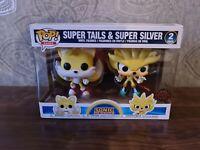 Funko Pop Super Tails & Super Silver SDCC 2020 Vinyl Figures Sonic The Hedgehog