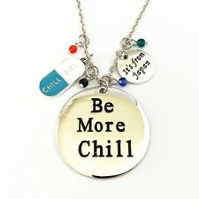 Be More Chill Charm Necklace Double Sided Broadway