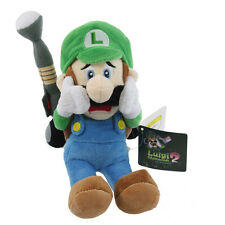 "Sanei Super Mario Series Luigi's Mansion 10"" Plush Toy Luigi Scared w/ Strobulb"