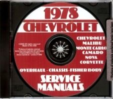 CHEVROLET 1978 Impala, Caprice, Monte Carlo & Corvette Shop Manual CD