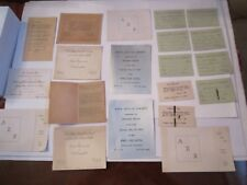 LOT OF 1930'S ALPHA ZETA CHI SORORITY INVITATIONS & TICKETS & MORE - TUB SC
