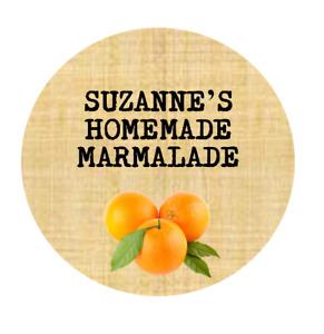 PERSONALISED HOMEMADE MARMALADE LABELS / JAM JAR LABELS / orange juice gin jam