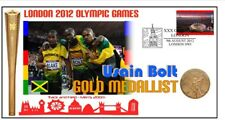 USAIN BOLT 2012 OLYMPIC JAMAICA 200m GOLD MEDAL COVER 1