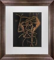 "Pablo Picasso Linogravure LTD Ed. ""Tete de Femme"" 1959 +Custom FRAME"