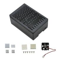 For Raspberry Pi 4B Protective ABS Case Enclosure with Cooling Fan Silver A K8W4