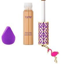 Tarte Shape Tape Concealer & Sponge Set in MEDIUM SHADE NIB/with Flamingo Charm