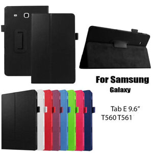 """New Flip Case For Samsung Galaxy Tab E 9.6"""" T560/T561 Leather Stand Smart Cover"""
