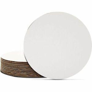 Cake Boards 12-Piece Cardboard Round Cake Circle Base, 6 Inches Diameter, White