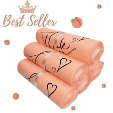 8x10 In -100 Pack  Thank You Peach Poly Mailer Envelope Plastic Custom Mail