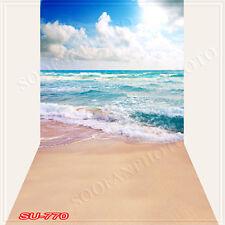 Seaside 10'x20'Computer/Digital Vinyl Scenic Photo Backdrop Background SU770B88